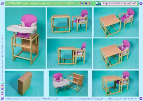 Как сделать детский стульчик для кормления самому